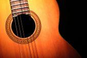 Acoustic guitar detail — Stock Photo