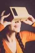 Karton wirtualnej rzeczywistości — Zdjęcie stockowe