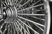 Motorcycle wheel spokes — Stock Photo