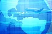 Blue international transportation background — Stock Photo