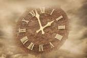 Time in clouds — Stock Photo