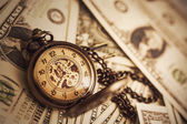 Money and Time Background — Stock Photo