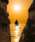 A vela al tramonto — Foto Stock