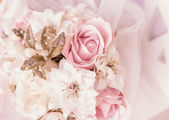 Bright pink roses background — Stock Photo
