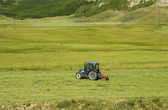 Tractor cultivating field — Stock Photo