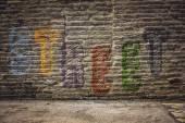 Graffiti wall background — Stock Photo