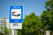 Hotel 200 metres — Stock Photo