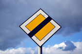 Yellow road sign — Stock Photo