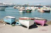 3 Colorful Boats in Capri, Italy — Stock Photo