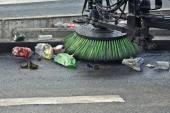Street sweeper machine — Stock Photo
