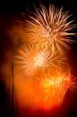 Orange fireworks — Stock Photo