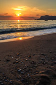 Sunset on a Turkish beach — Stockfoto