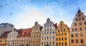 Townhouses in Wrocław — Stock Photo