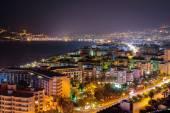 Coast in Alanya at night — Stock Photo
