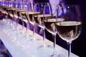 Wine glasses nightclub — Stock Photo