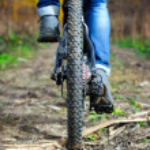 Mountain bike wheel — Stock Photo #59041811
