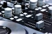 Nightclub DJ mixer — Stock Photo