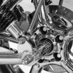 Custom motorcycle wheel — Stock Photo #67641649