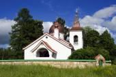 Christliche Kirche in Holz — Stockfoto