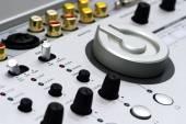Silver DJ mixer — Stock Photo