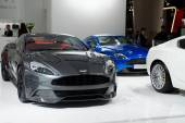 Aston Maktin super cars in automobile exhibition — Foto de Stock