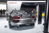 918 Spyder from Porsche super car in automobile exhibition 2 — Stock Photo