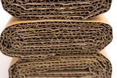 Cross sections of folded corrugated cardboard — Stock Photo