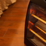 Elektrische Heizung im Schlafzimmer — Stockfoto #78582690