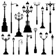 Street lamp set. — Stock Vector #53160277