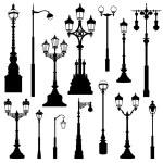 Street lamp set. — Stock Vector #53160277