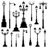 Street lamp set. — Stock Vector