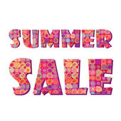 Summer sale sign — Stock Vector