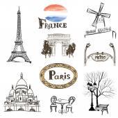 Paris icons set. — Stock Vector