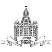 Liverpool Liver Building — Stock Vector