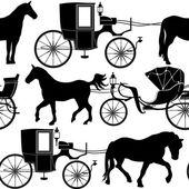 Carriage seamless background — Vector de stock
