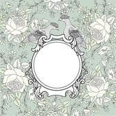 Floral frame achtergrond. — Stockvector