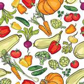 Patrón de hortalizas — Vector de stock