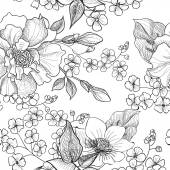 Floral seamless pattern. — Vetor de Stock