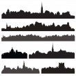 City silhouettes set — Stock Vector #80620446