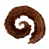 Splash of brownish hot coffee or chocolate — Stock Photo