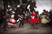 Chilean typical dancers — Stock Photo