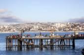 Fishermen in Valparaiso — Stock Photo