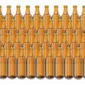 Glass Beer Brown Bottles — Vettoriale Stock