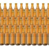 Glass Beer Brown Bottles — Wektor stockowy