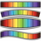 Set of Film strip — Stock Vector