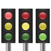 Set van traffic-light — Vector de stock