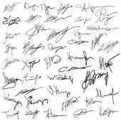 Set of autographs  — Stock Vector