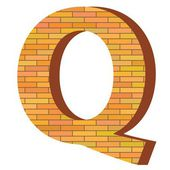 Brick letter Q — Stock Vector