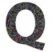 Multicolor letter Q — Stock vektor