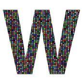 Multicolor letter W — Stockvektor